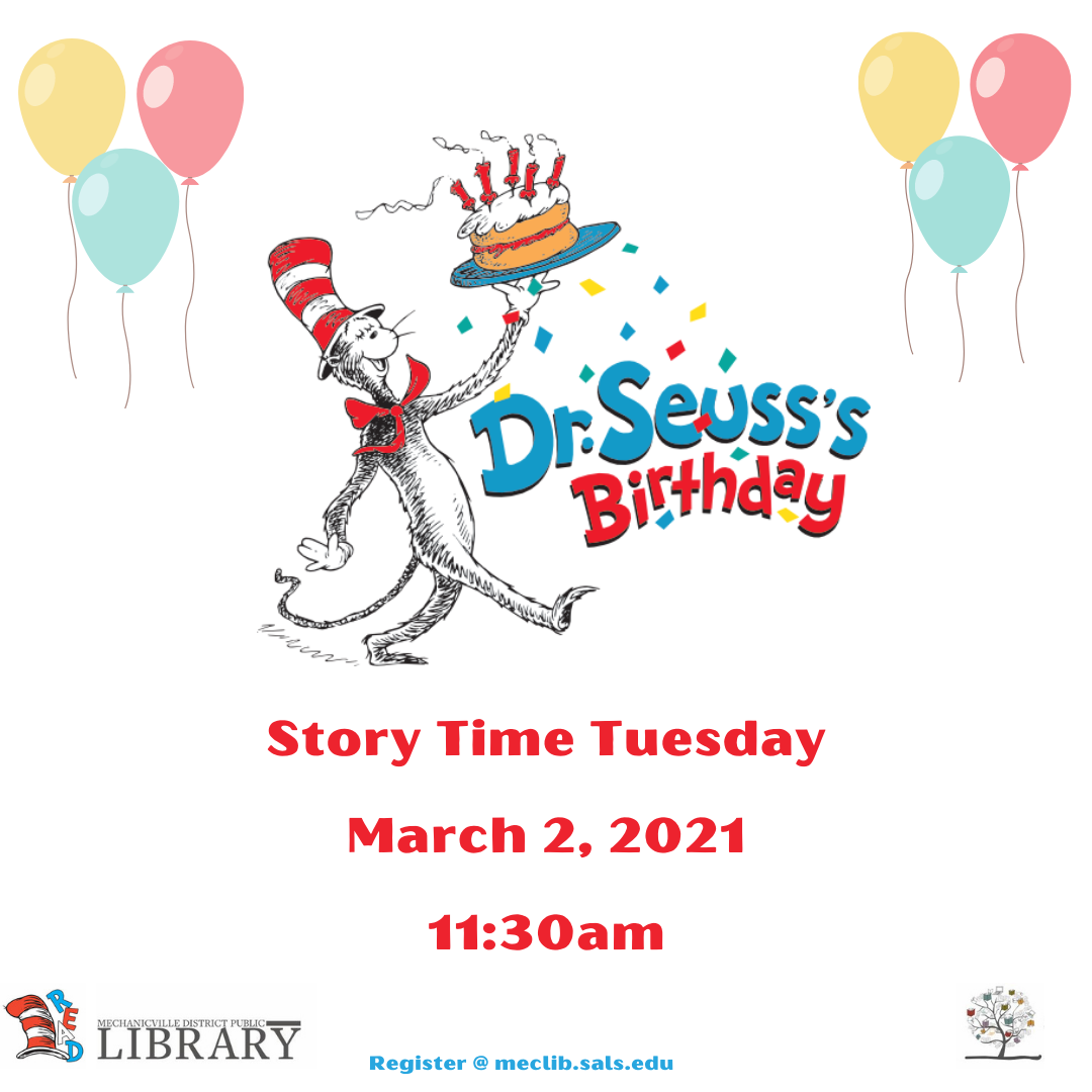 Dr. Seuss Story Time @ Mechanicville District Public Library | Mechanicville | New York | United States