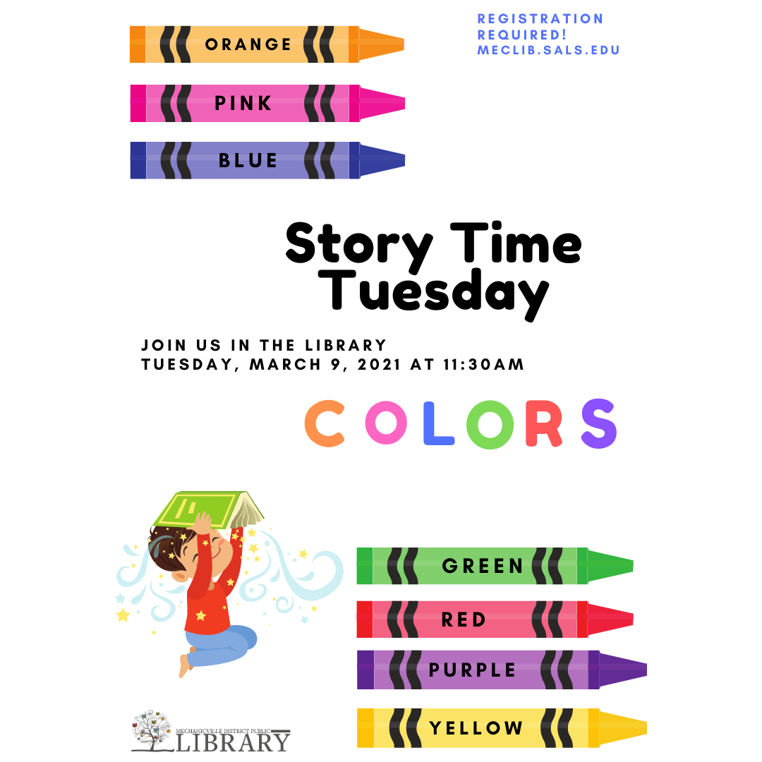 Story Time ~ Colors! @ Mechanicville District Public Library | Mechanicville | New York | United States