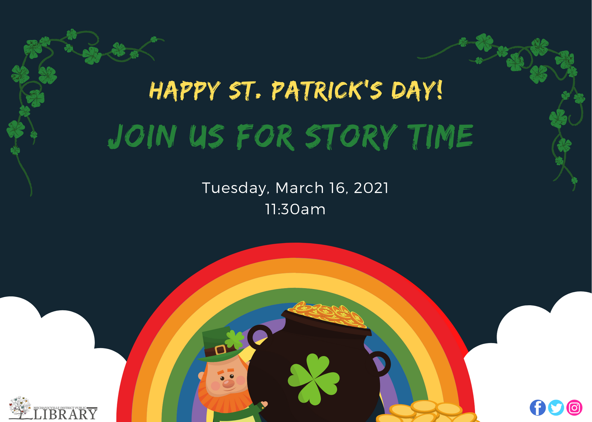 St. Patrick's Day Story Time @ Mechanicville District Public Library | Mechanicville | New York | United States