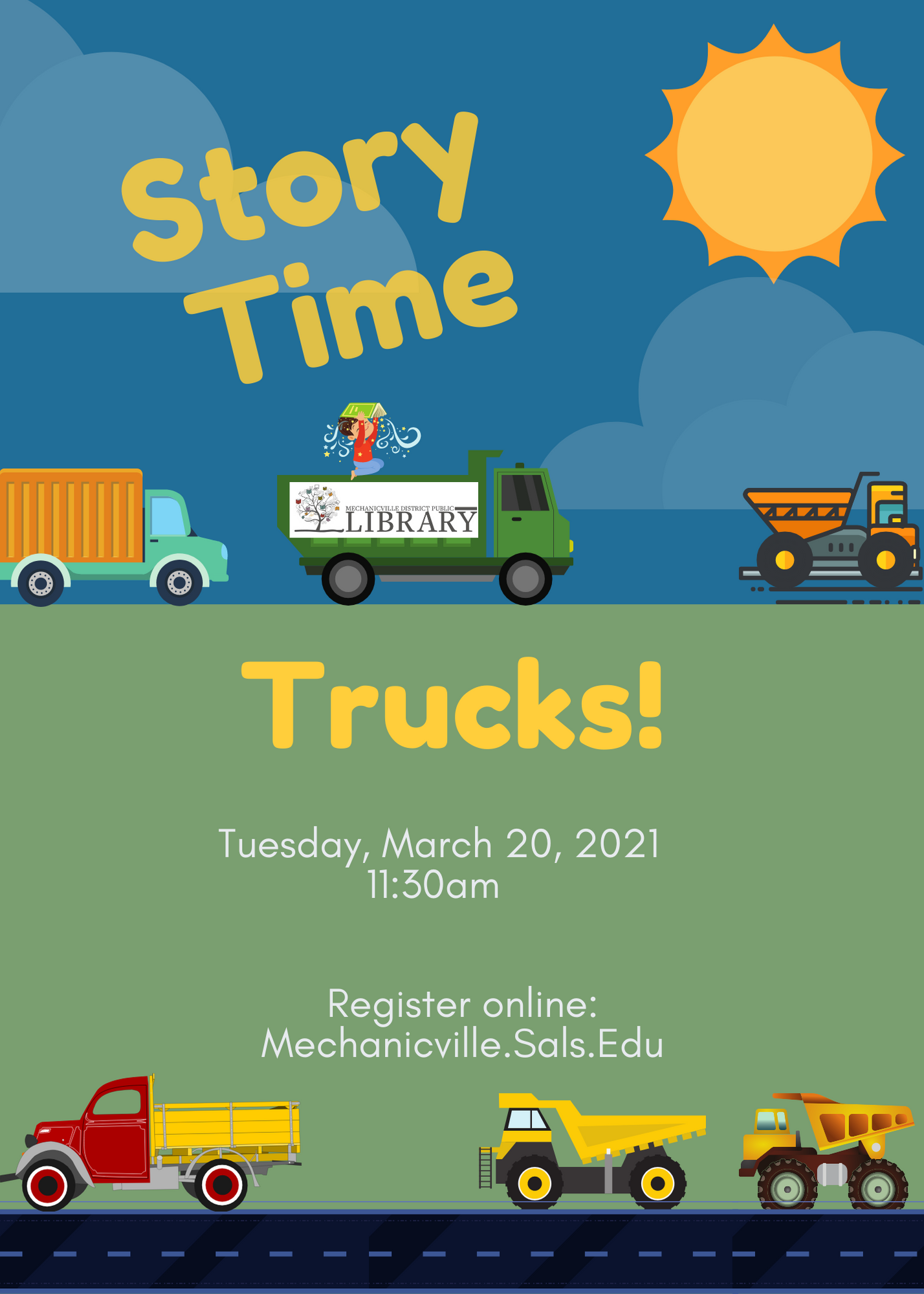 Story Time: Trucks! @ Mechanicville District Public Library | Mechanicville | New York | United States