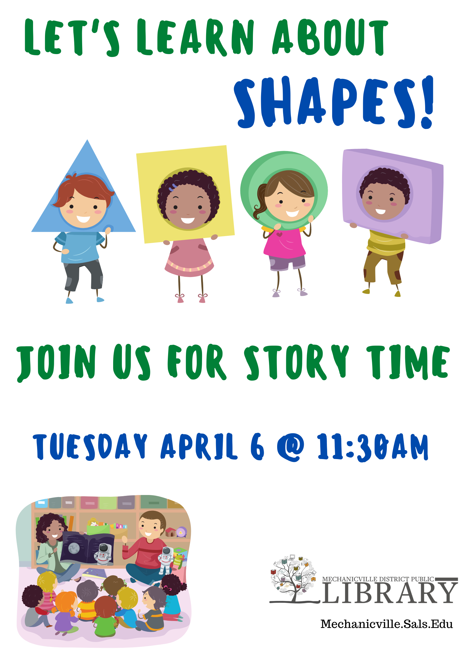 Story Time: Shapes! @ Mechanicville District Public Library | Mechanicville | New York | United States