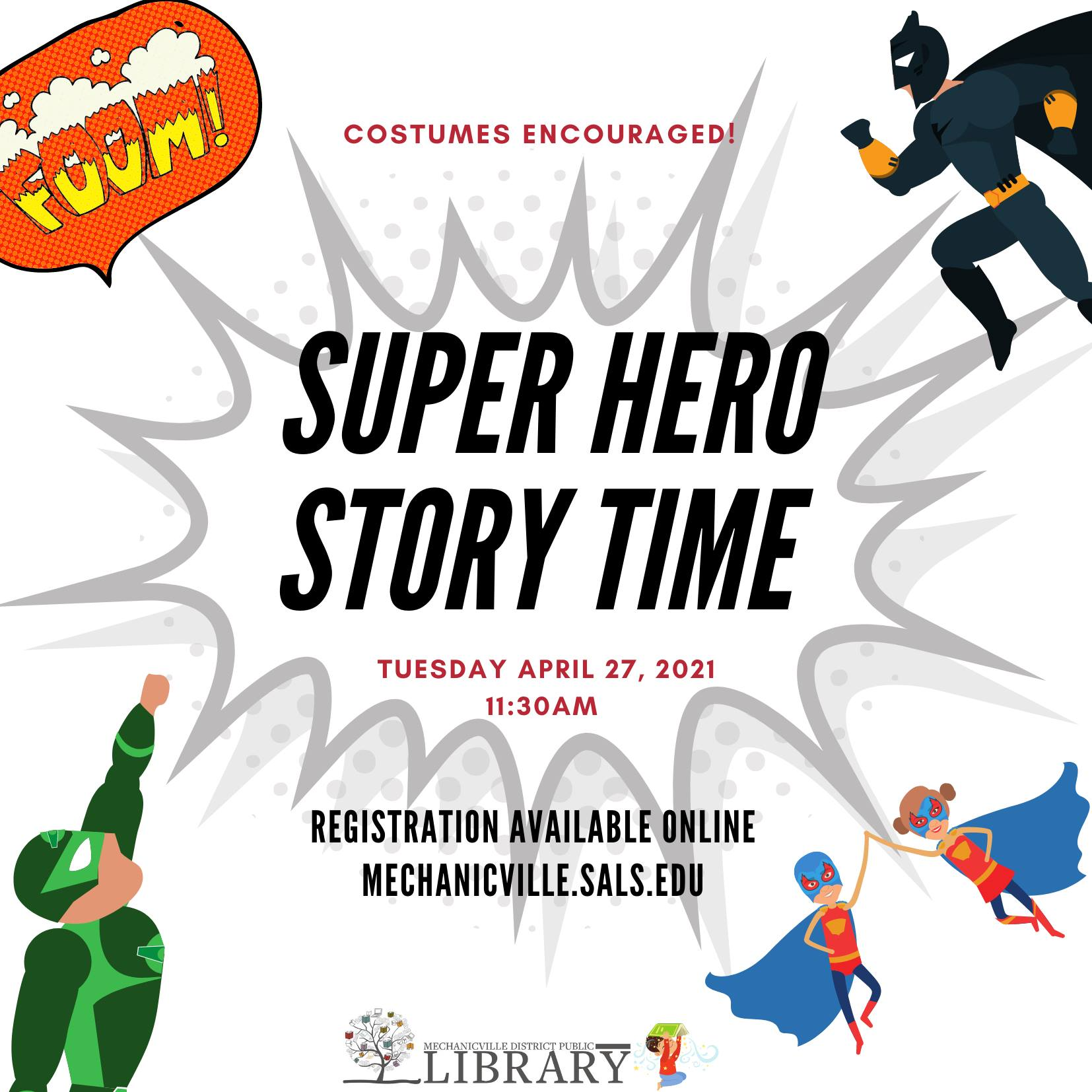 Story Time: Super Heroes! @ Mechanicville District Public Library | Mechanicville | New York | United States