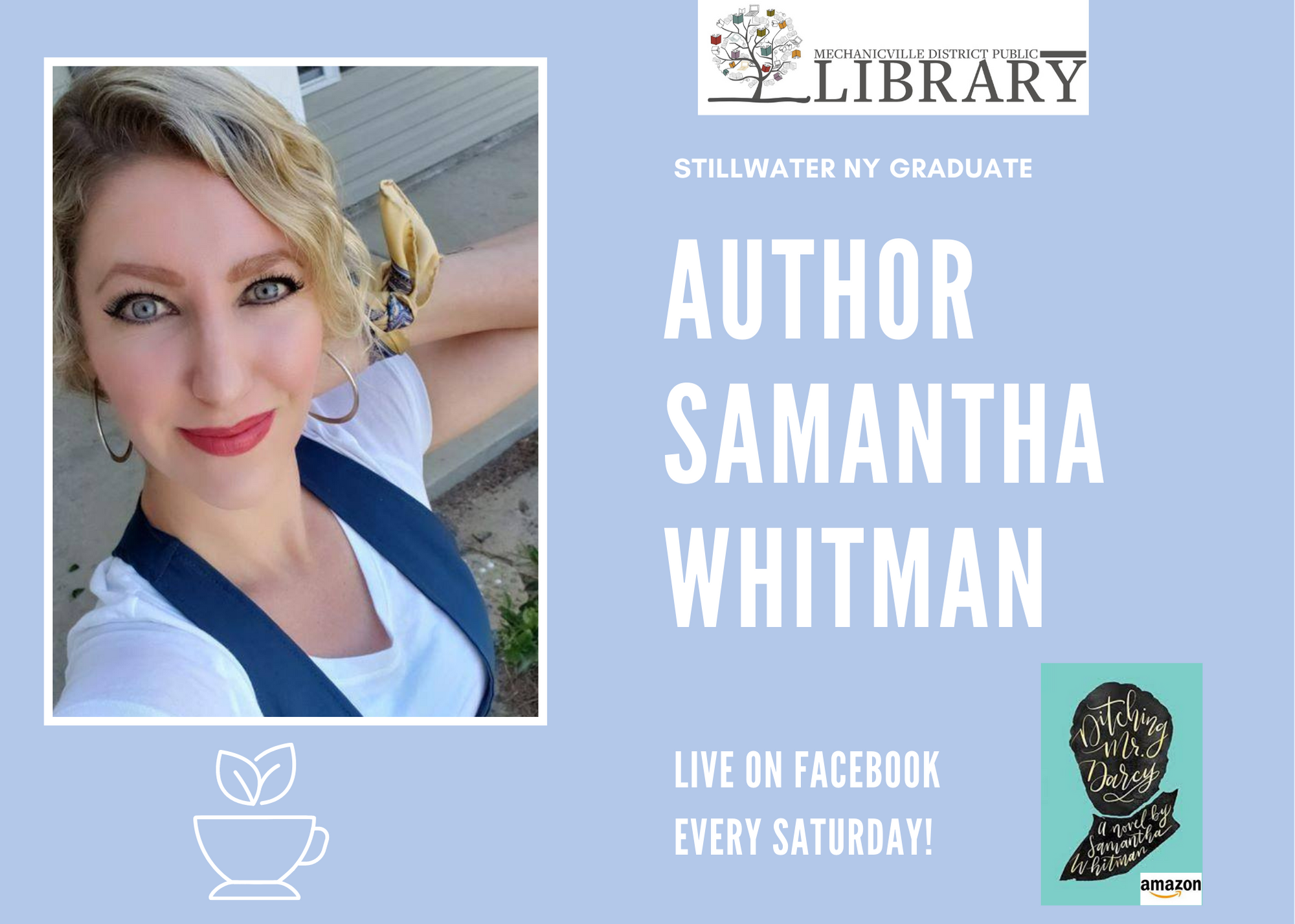 Local Author Live! Samantha Whitman: Ditching Mr. Darcy