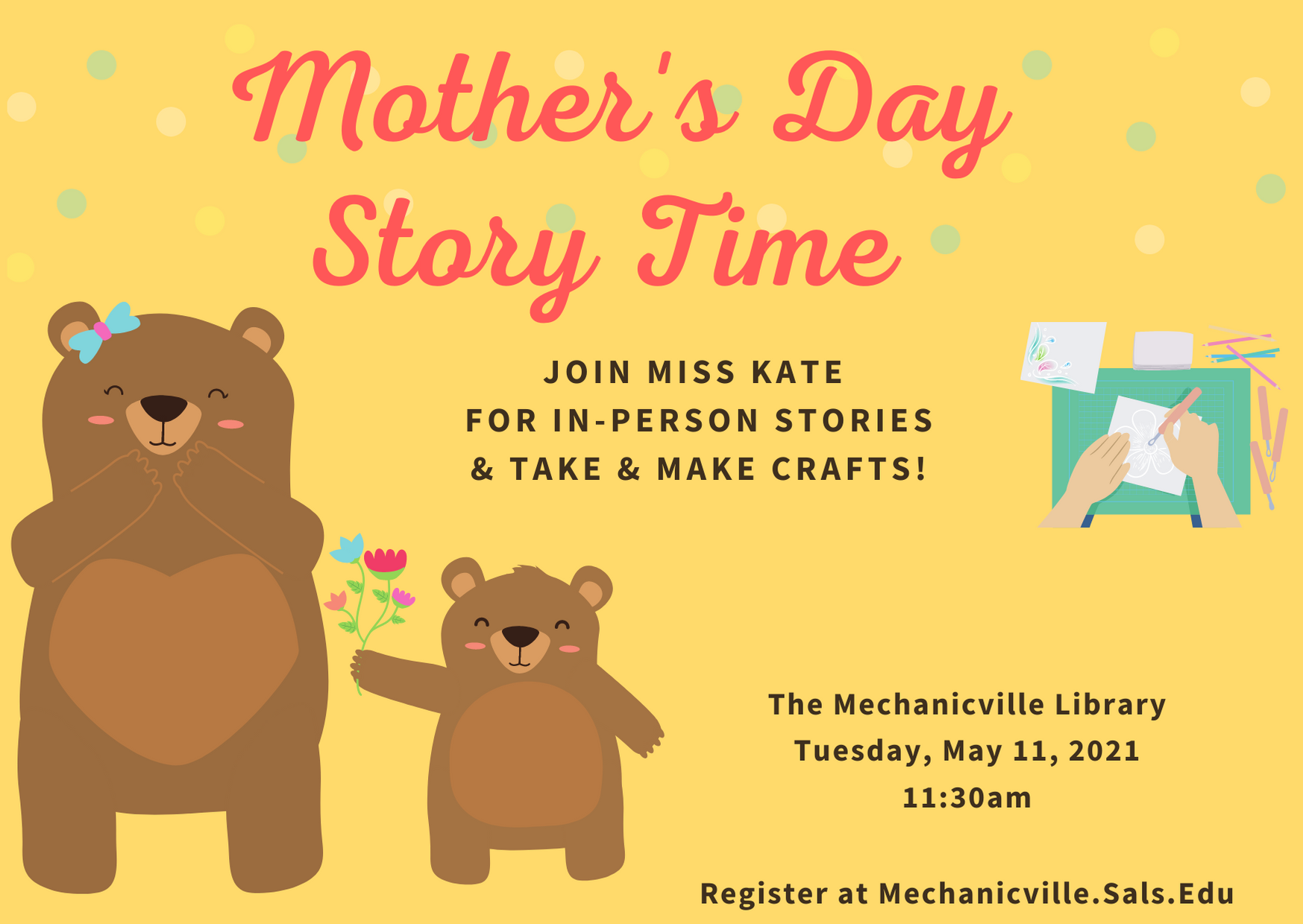 Story Time: Mother's Day @ Mechanicville District Public Library | Mechanicville | New York | United States