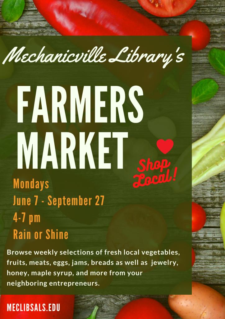 Farmers Market Mondays @ Mechanicville District Public Library | Mechanicville | New York | United States