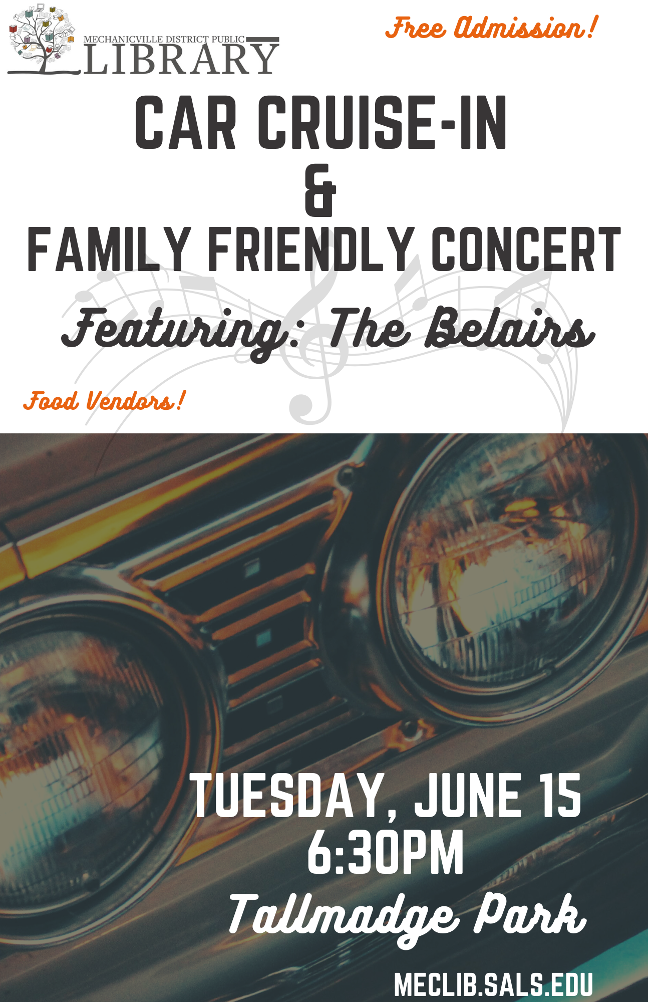 Car Cruise In & Family Concert @ Tallmadge Park | Mechanicville | New York | United States