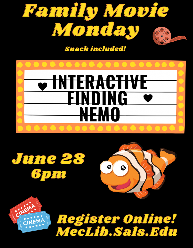 Family Movie Monday: Interactive Finding Nemo @ Mechanicville District Public Library | Mechanicville | New York | United States