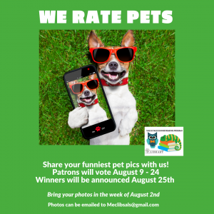 Bring in your Funniest Pet Photos! @ Mechanicville District Public Library | Mechanicville | New York | United States