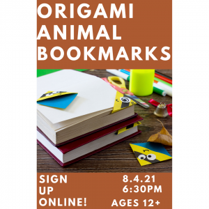 Origami Animal Bookmarks (Ages 12+) @ Mechanicville District Public Library | Mechanicville | New York | United States
