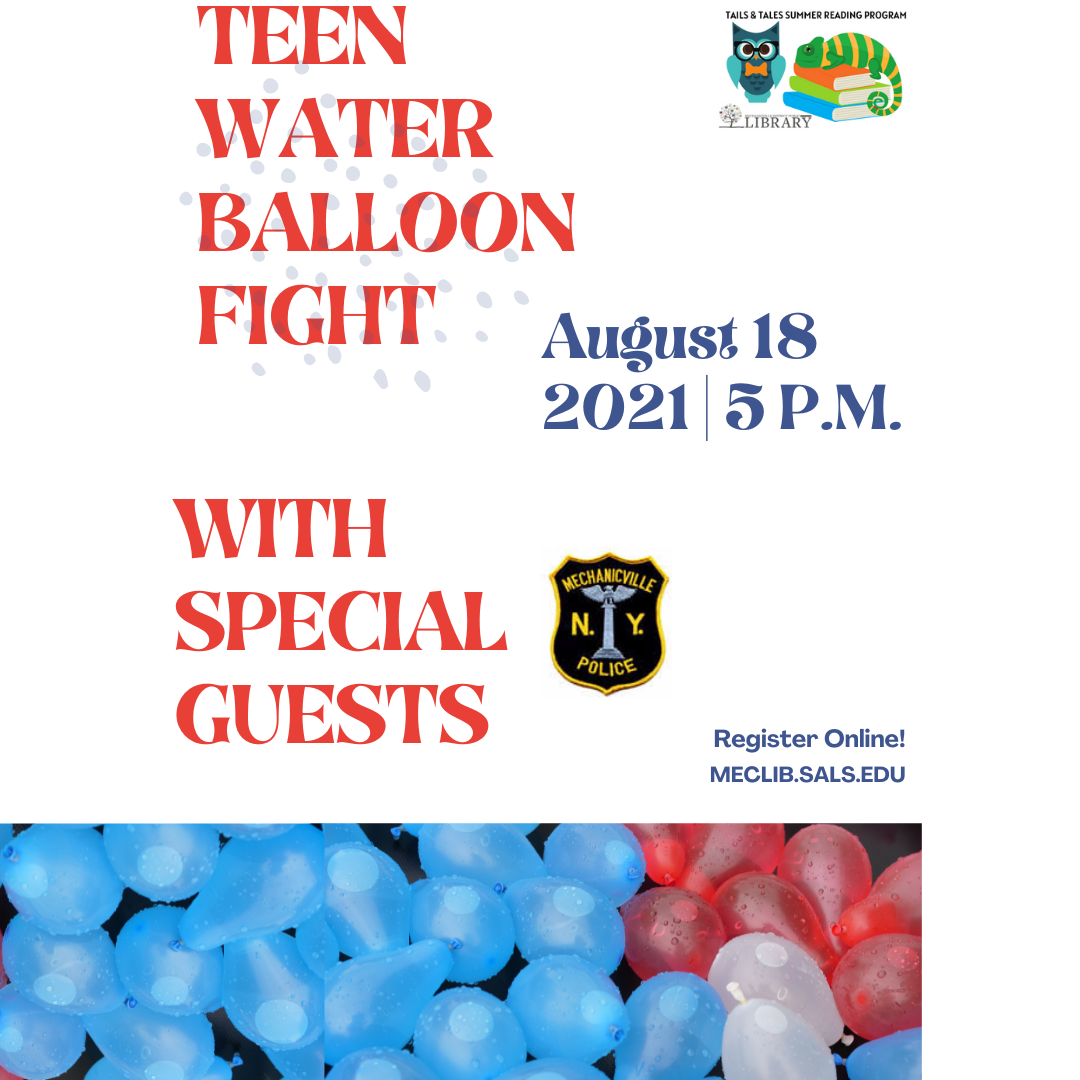 Water Balloon Fight with MPD (Teens ages 12+) @ Mechanicville District Public Library | Mechanicville | New York | United States