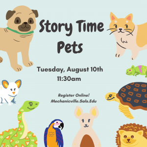Pets Story Time @ Mechanicville District Public Library | Mechanicville | New York | United States