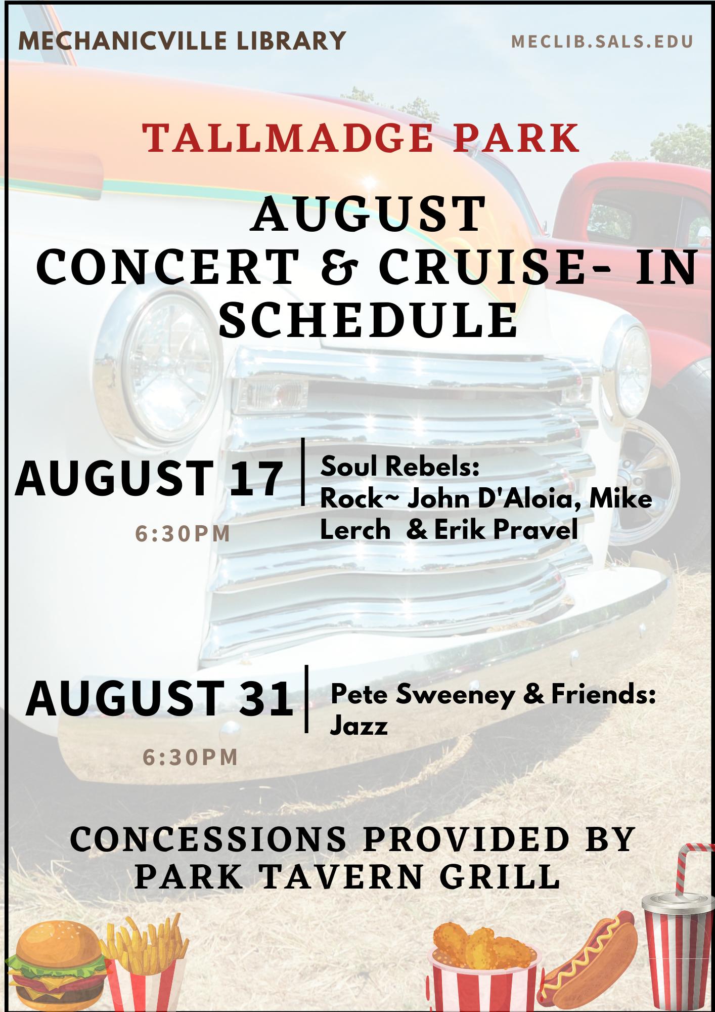 Cruise-In & Concert in Tallmadge Park @ Tallmadge Park | Mechanicville | New York | United States