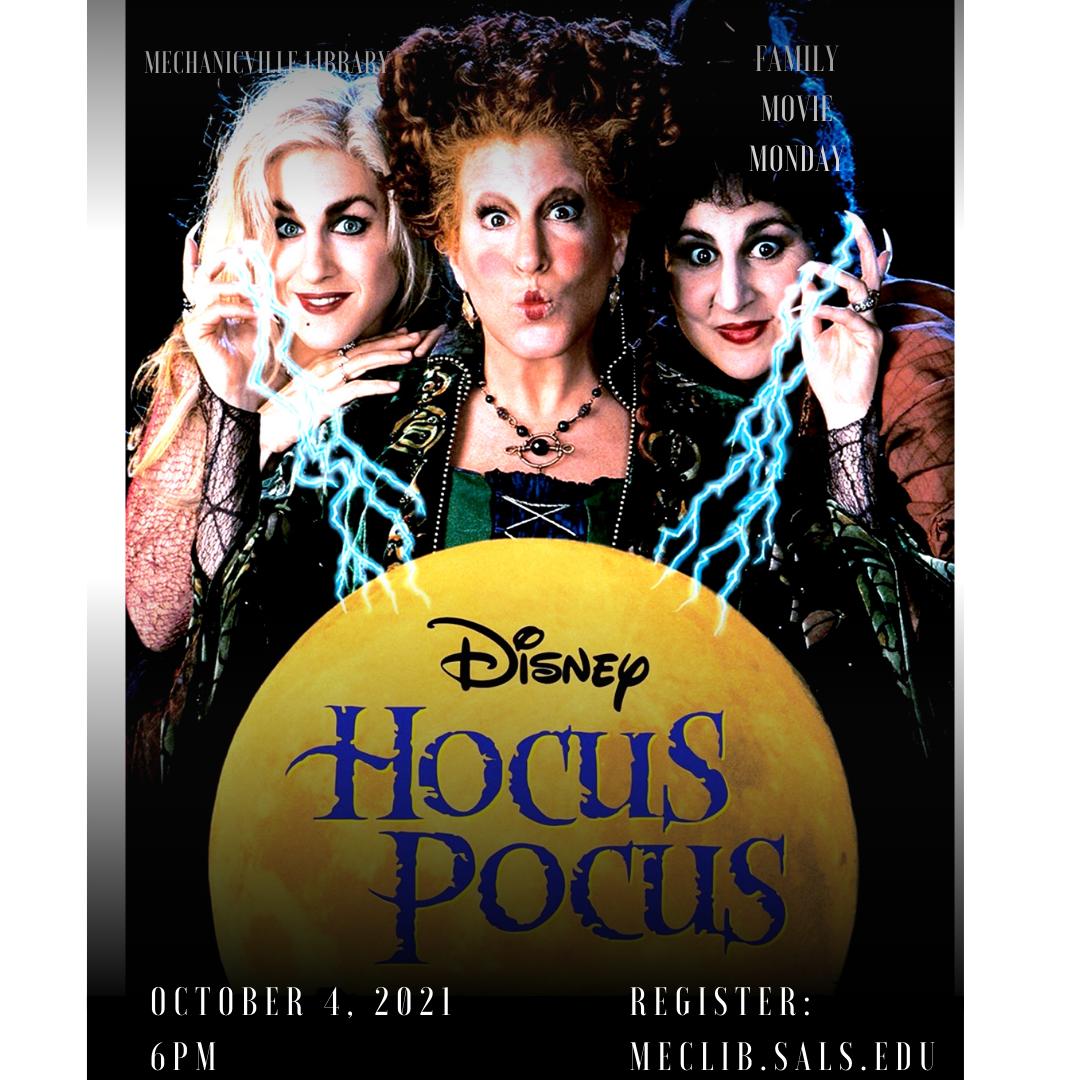 Family Movie Monday: Hocus Pocus @ Mechanicville District Public Library | Mechanicville | New York | United States