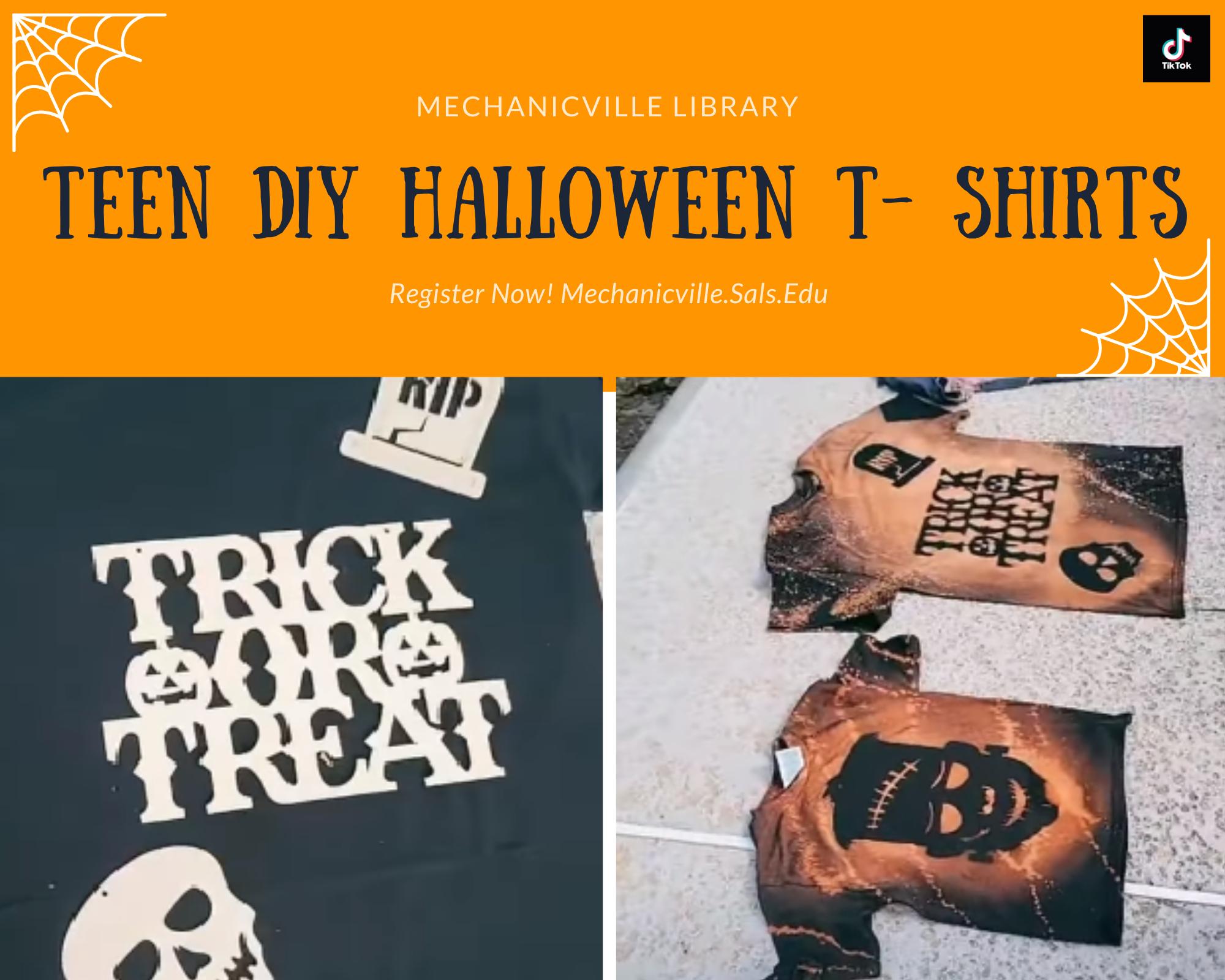 DIY Teen Halloween T-Shirts